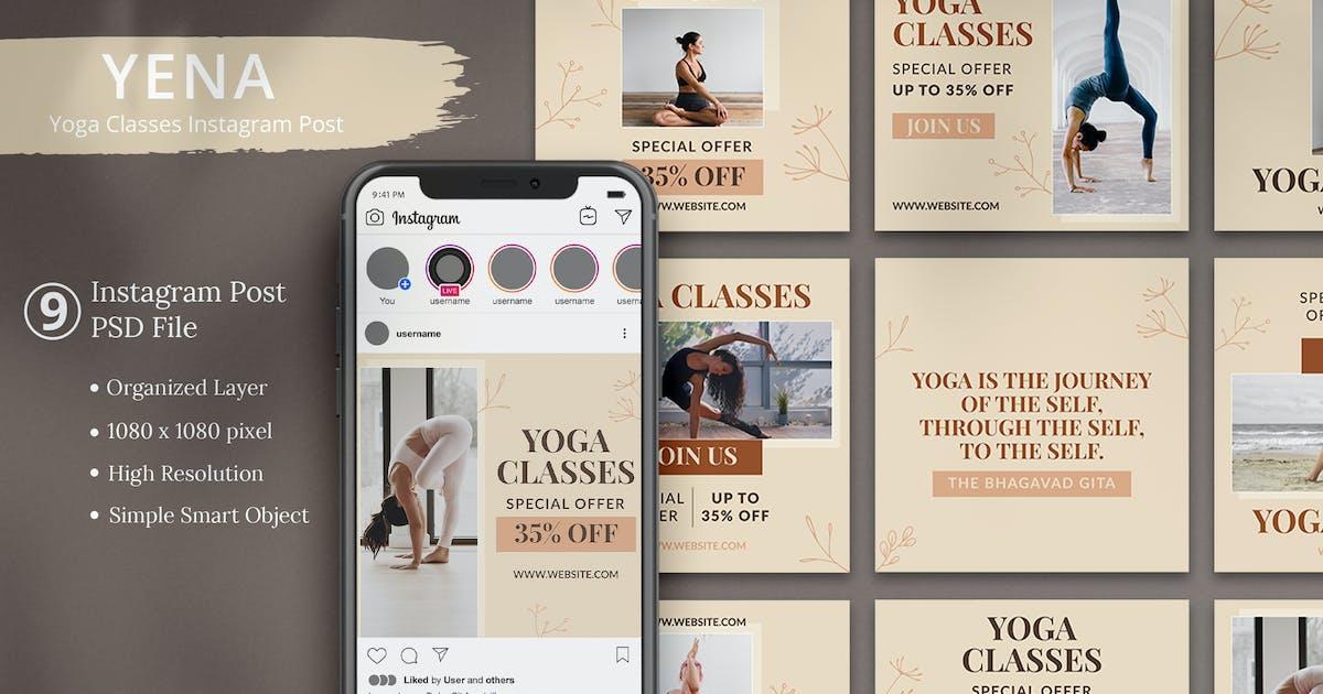 Download Yena - Yoga Classes Instagram Post by Attype-Studio