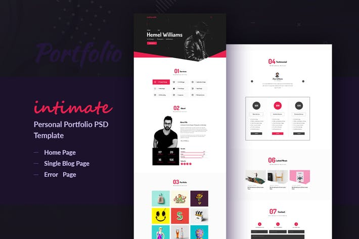 Thumbnail for Intimate - Creative Portfolio PSD Template