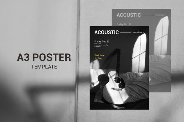 Acoustic Music - A3 Poster Template