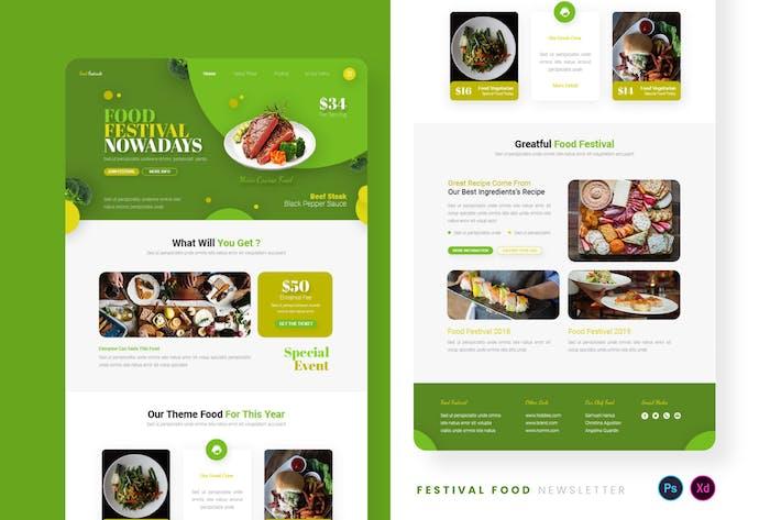 Thumbnail for Festival Food Email Newsletter