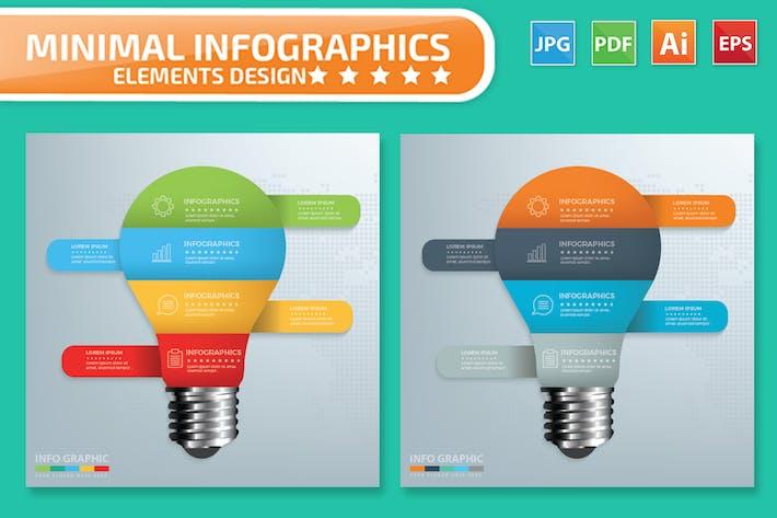 Cover Image For Minimal Light bulb Infographics Design