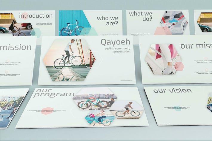 Thumbnail for Qayoeh - Cycling Google Slide Presentation