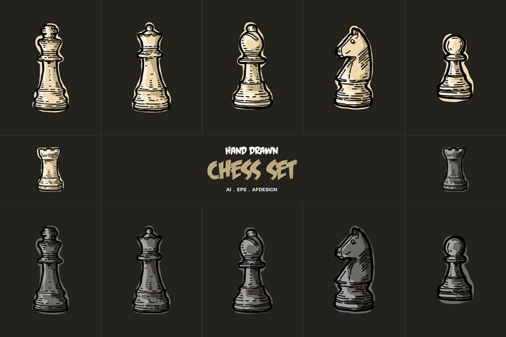 Hand Drawn Chess Collections