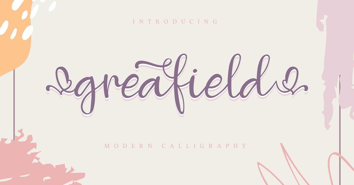 Download Greafield | Modern Calligraphy Font by Vunira