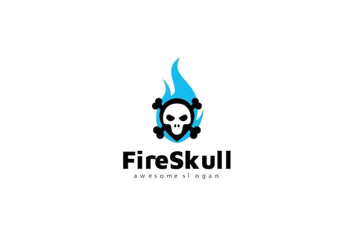 Thumbnail for Fire Skull Logo Template