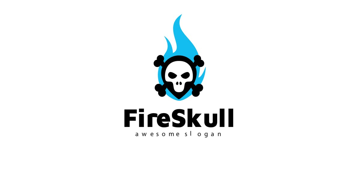 Download Fire Skull Logo Template by Be_Themes