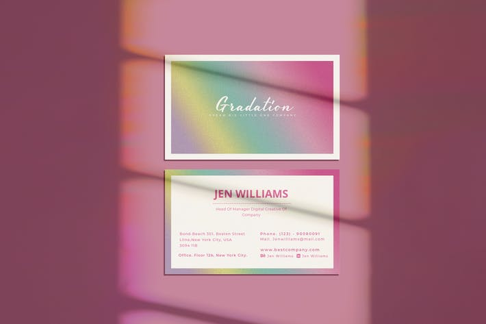Thumbnail for Gradation Business Card