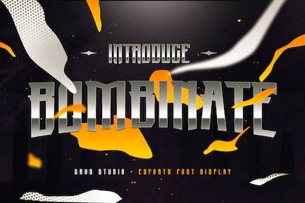 Bombinate eSport Font