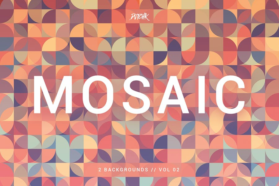 Mosaic  Abstract Gradient Backgrounds   Vol. 02