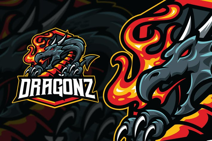 Thumbnail for Dragonz Esport and sport Logo Template
