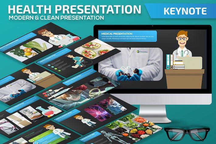 Thumbnail for Health Keynote Presentation Template