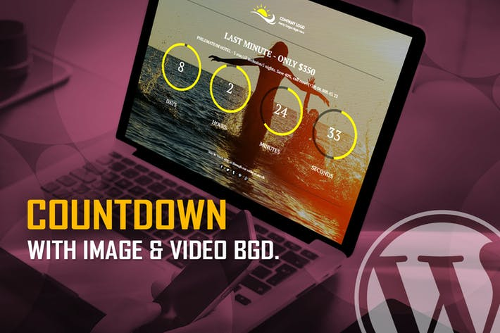 Thumbnail for CountDown With Image or Video Background WP Plugin