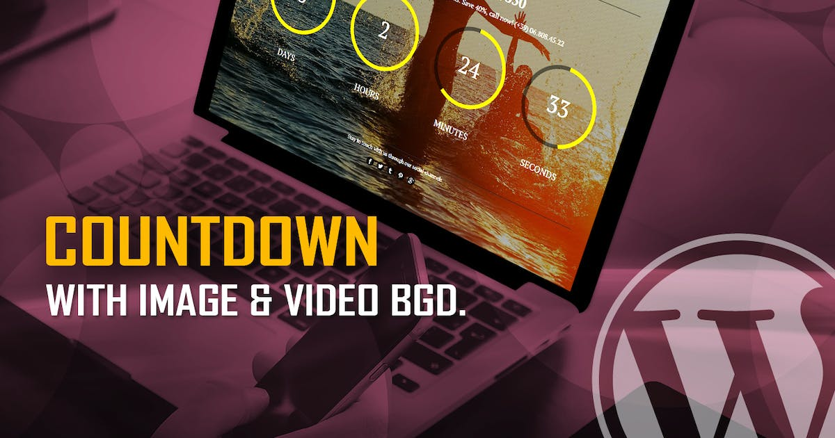 Download CountDown With Image or Video Background WP Plugin by LambertGroup