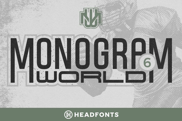 Thumbnail for Monogram World | Sport Monogram Font