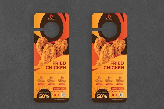 Fried Chicken Door Hanger Creative Promotion