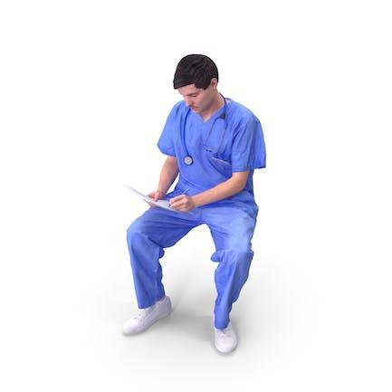 Doctor Hombre Sentado