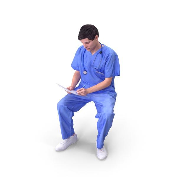 Doktor Mann sitzend