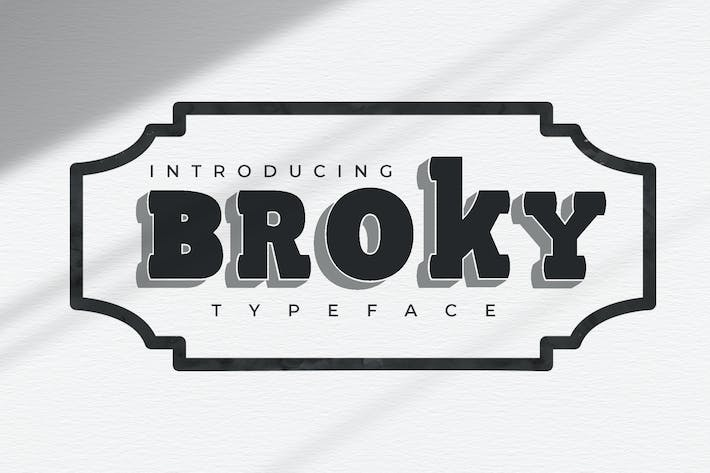Thumbnail for Broky Typeface