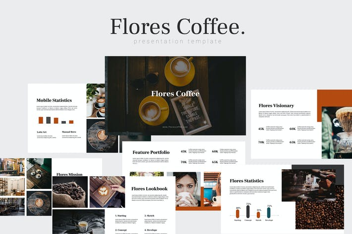 Thumbnail for Флорес - Шаблон Keynote для кофе