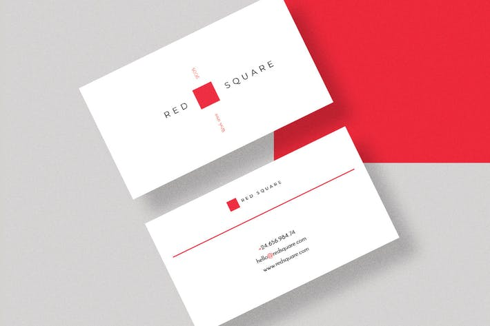 Thumbnail for Redsquare Creative Business Card Template