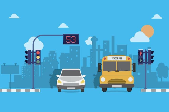 Thumbnail for Traffic Light - Illustration Background
