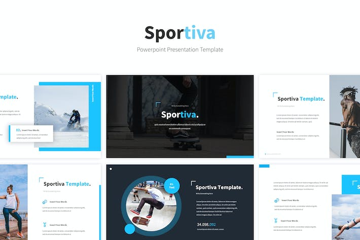 Thumbnail for Sportiva Powerpoint Template