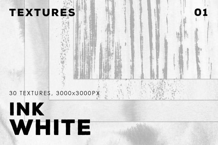 Thumbnail for White Ink Textures | 01