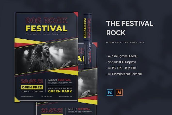 Rock Festival - Flyer