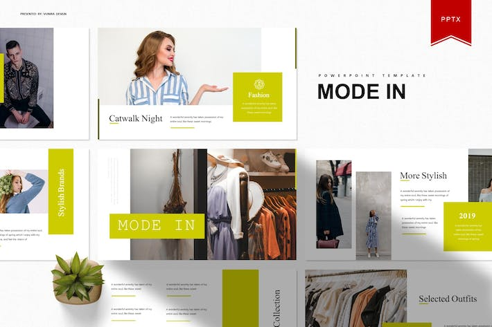 Thumbnail for Mode In | Powerpoint Template