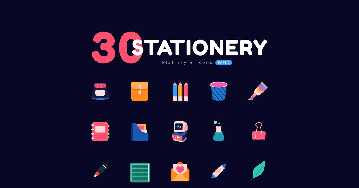 Download Stationery Icons Flat Style - Part 2 by Victoruler