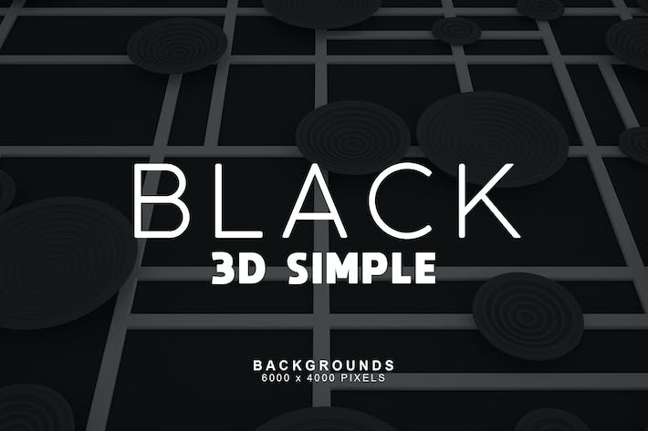 Thumbnail for Simple 3D Black Backgrounds 3