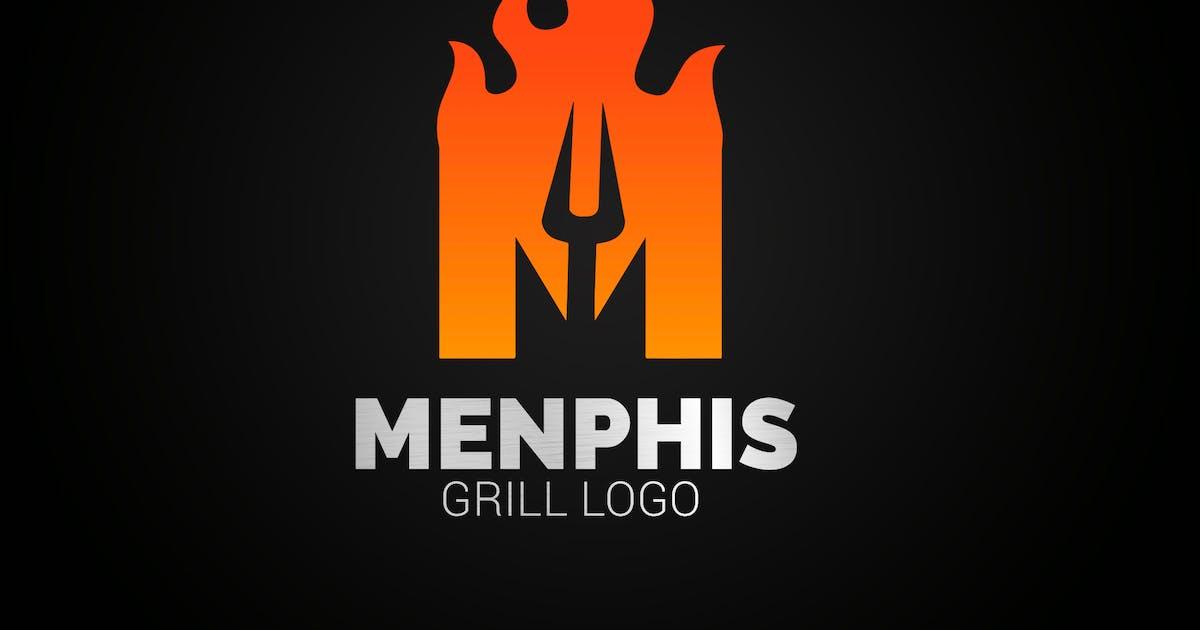 Download Letter M Fire Grill Logo by SmartDesigns_eu