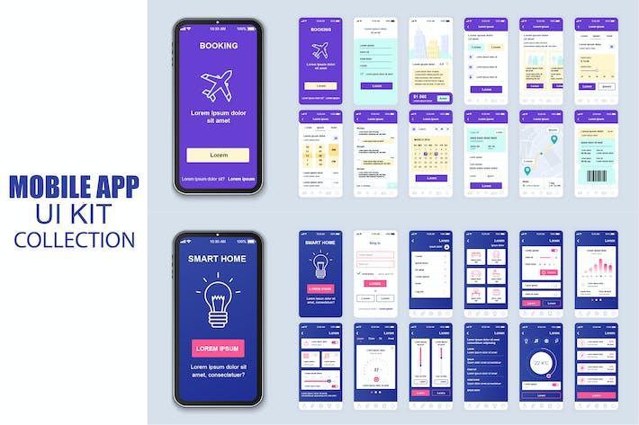 Cover Image For Большая Коллекция Умный дом Мобильное Приложение Ui Kit Экран