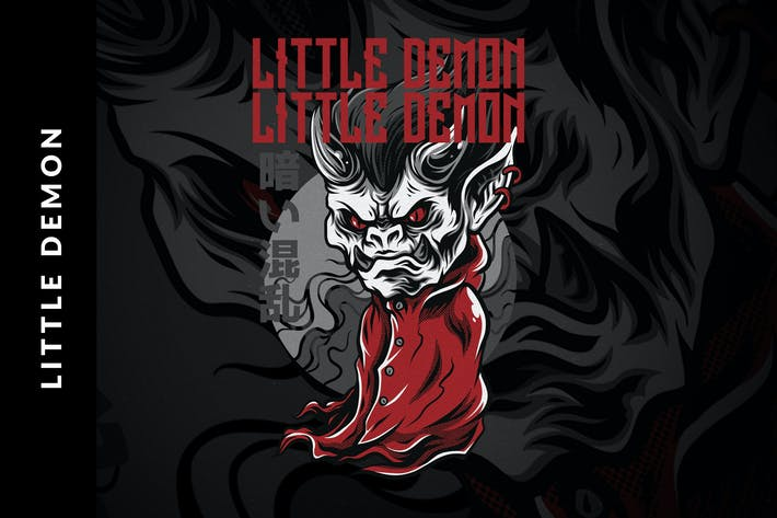 Thumbnail for Little Demon T-Shirt Design