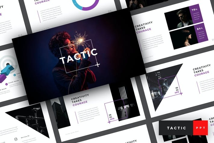 Cover Image For Taktik - Creative PowerPoint Vorlage