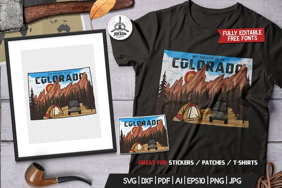 Colorado US State Camp Badge / Retro Travel Logo