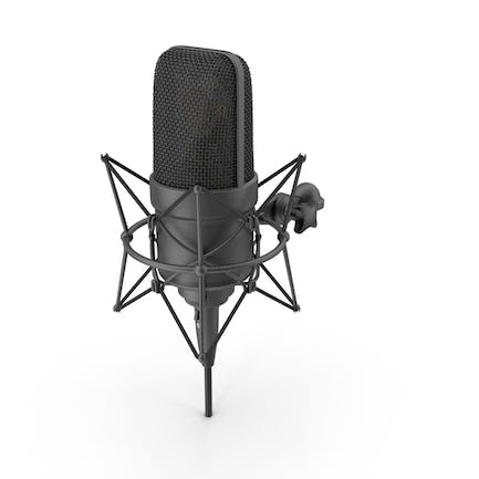 Black Microphone with XLR Cable
