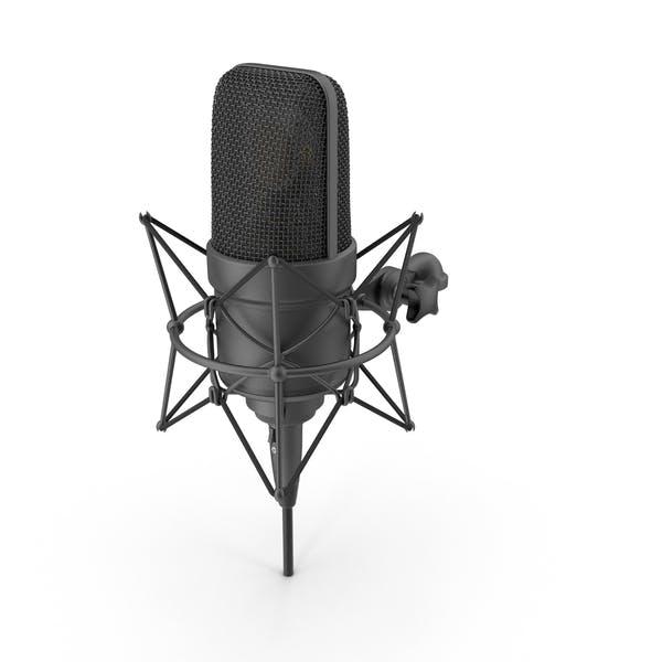 Черный микрофон с XLR кабелем