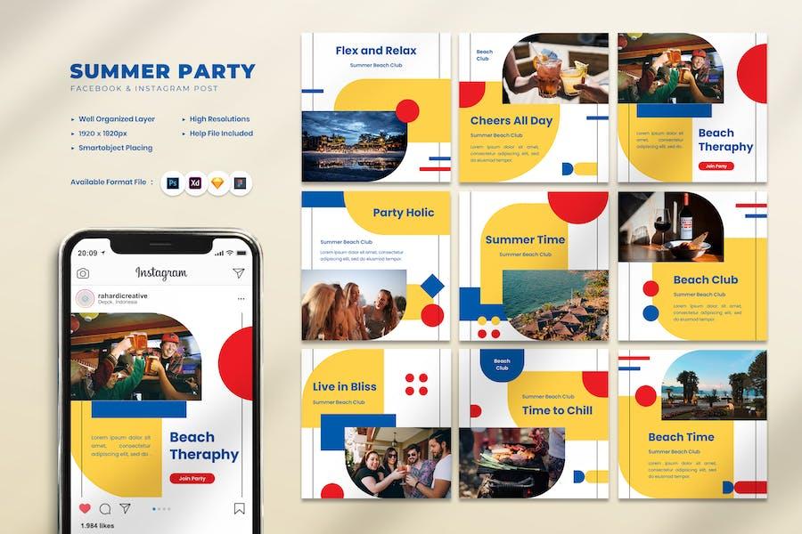 Instagram-Geschichten der Sommerparty