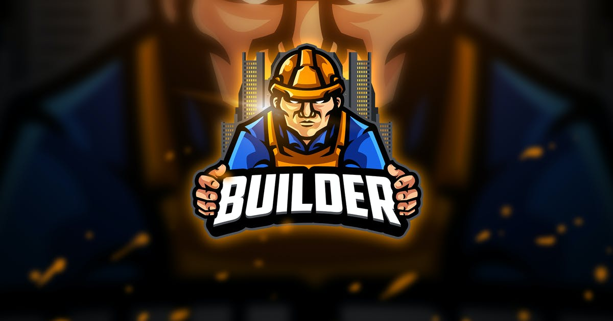 Download Builder  2 - Mascot & Esport Logo by aqrstudio