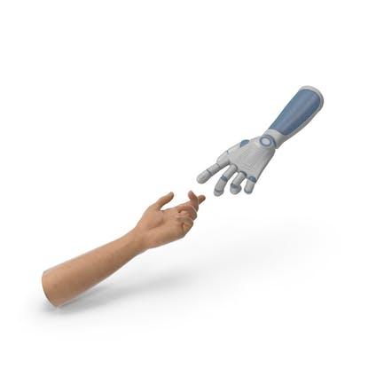 Reaching Hands Human Technology