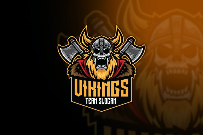 Thumbnail for Vikings Esport Logo Template