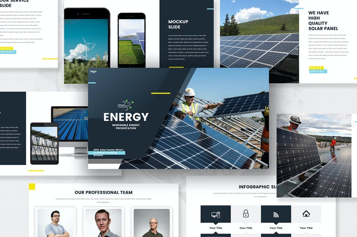 Thumbnail for Шаблон Keynote по возобновляемым источникам энергии