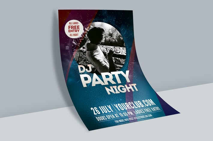 Thumbnail for Dj Party Night Flyer Poster