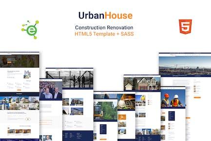 UrbanHouse- Construction Renovation HTML5 Template