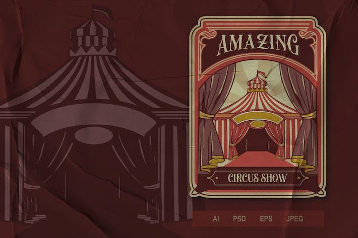 Thumbnail for Vintage Emblem - Circus V3