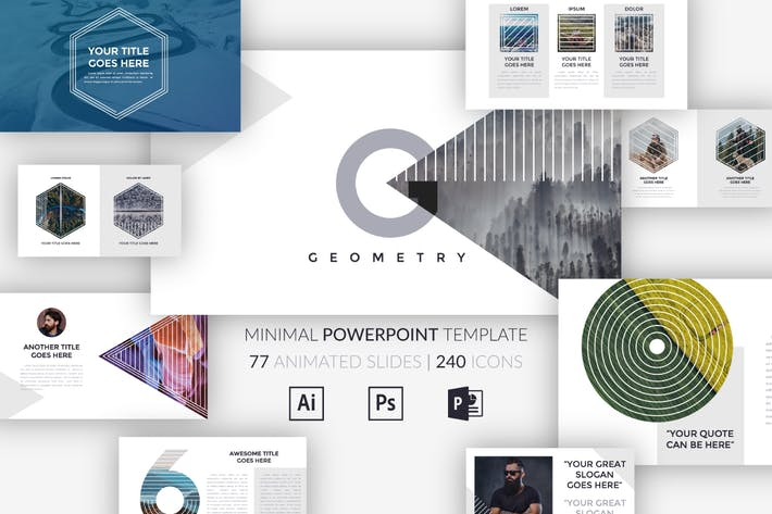 Thumbnail for G E O M E T R Y . Minimal Powerpoint Template