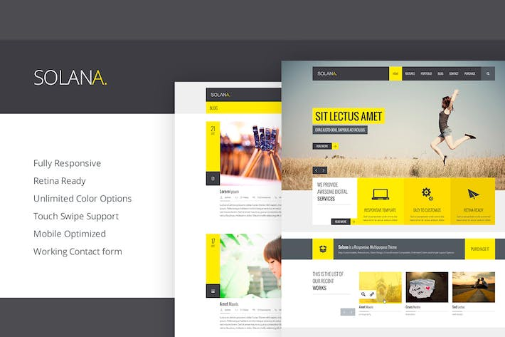 Thumbnail for Solana - Responsive HTML5 Template