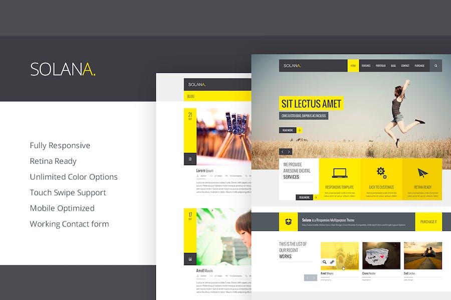 Solana - Responsive HTML5-Vorlage