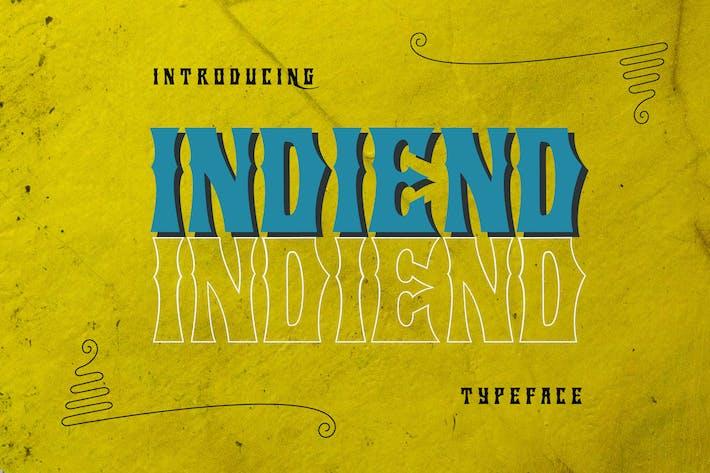 Thumbnail for Tipo de letra INDIEND